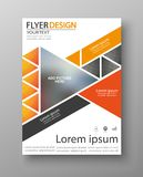 Abstract flyer design background. Brochure template Stock Photos