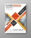 Abstract flyer design background. Brochure template Royalty Free Stock Photo