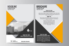 Abstract flyer design background. Brochure template. Royalty Free Stock Images