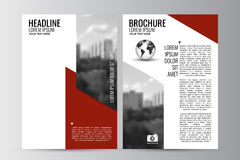 Abstract flyer design background. Brochure template. Stock Images