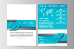 Abstract flyer design background. Brochure template. Royalty Free Stock Image