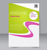 Abstract flyer design background. Brochure template. Stock Photos