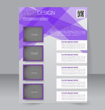 Abstract flyer design background. Brochure template. Stock Photography