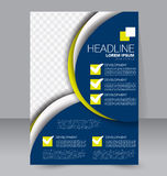 Abstract flyer design background. Brochure template. Royalty Free Stock Photo