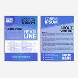 Abstract Flyer Design Template with Blue Background Stock Image