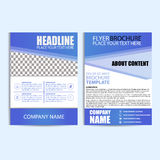 Abstract Flyer Design Template Stock Image
