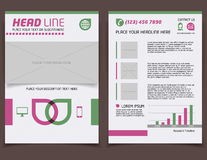 Abstract flyer design template Royalty Free Stock Photography