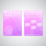 Abstract Flyer design Triangle template layout Royalty Free Stock Photography