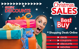 Abstract flyer for shopping on Christmas trade Royalty Free Stock Photo