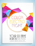 Abstract flyer, template or banner for Party. Stock Images