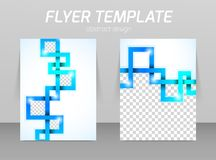 Abstract flyer template design Royalty Free Stock Photography