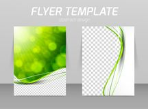 Abstract flyer template design Stock Image