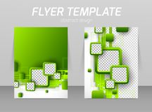 Abstract flyer template design Royalty Free Stock Images