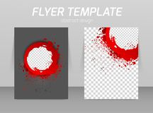 Abstract flyer template design Stock Photography