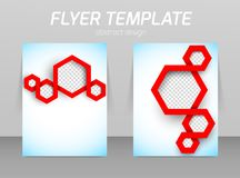 Abstract flyer template design Royalty Free Stock Photos