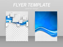 Abstract flyer template design Royalty Free Stock Photo