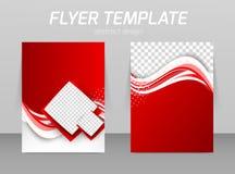 Abstract flyer template design Stock Photos