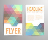 Abstract flyer template with place for text. Stock Image