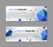 3d lowpoly abstract web slideshow template Royalty Free Stock Images