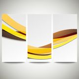 Abstract flyers set, wave vector design. Abstract flyers set, colored wave vector design Stock Photos