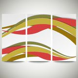Abstract flyers set, wave vector design. Abstract flyers set, colored wave vector design Royalty Free Stock Image