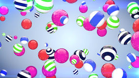 Abstract flying balls of different colours background Royalty Free Stock Image
