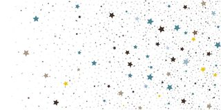 Abstract flying confetti. Falling confetti background. Random glitter shine on a white background. Suitable for your design, cards, invitations, gifts vector illustration