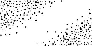 Abstract flying confetti star. A falling star background. stock illustration