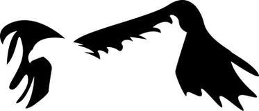 Abstract flying eagle. Line art design stock illustration