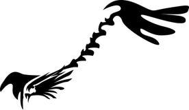 Abstract flying eagle. Line art design royalty free illustration