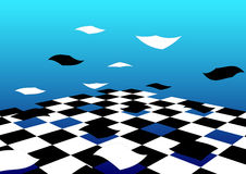 Abstract Flying Floor Background Royalty Free Stock Photography