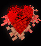 Abstract flying heart sign button wallpaper Stock Photography