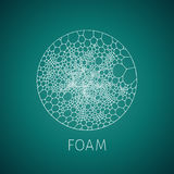 Abstract foam structure icon for web. And printing royalty free illustration