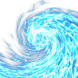 Abstract Foaming Ocean Wave. A digitally painted blue stormy ocean wave with white background space royalty free stock photo