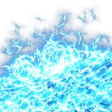 Abstract Foaming Ocean Wave. A digitally painted blue stormy ocean wave with white background space royalty free stock photos