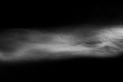 Abstract fog or smoke on black color background Stock Image