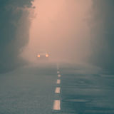 Abstract fogy road Stock Image