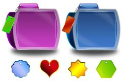Abstract folder icons Stock Photography