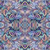 Abstract foliage seamless kaleidoscopic pattern background Stock Photos