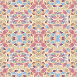 Abstract foliage seamless kaleidoscopic pattern background for your design. Colorful background with leaves, hand drawn. Abstract foliage seamless kaleidoscopic Royalty Free Stock Photo