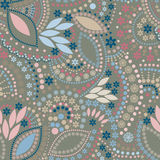 Abstract folk cute background seamless pattern Stock Photography