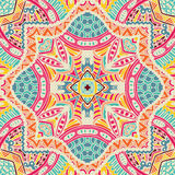 Abstract folk ethnic colorful seamless pattern ornament Stock Photos
