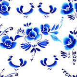 Abstract  folk floral background Stock Photos