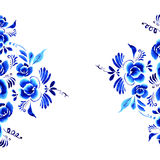 Abstract  folk floral background Stock Photography