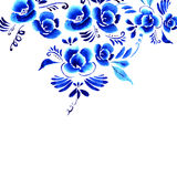 Abstract  folk floral background Royalty Free Stock Images