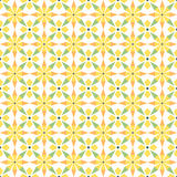 Abstract folk geometric seamless pattern. Green and yellow colors. Perfect for kitchen interior Stock Photography
