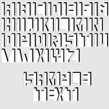 Abstract font design. Alphabet - letters from graphic elements. Over gray Royalty Free Stock Photography