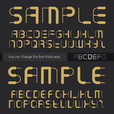Abstract font for titles. Vector alphabet. You can change the li Stock Photos