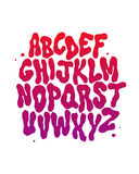 Abstract font. Vector alphabet Royalty Free Stock Photo