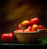 Abstract food background vegetables on a wooden background Stock Photos